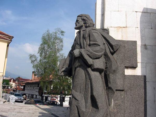 Paisiy Hilendarski monument Bansko